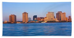 New Orleans Skyline From Algiers Point Hand Towel