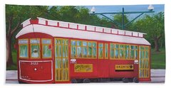 New Orleans Streetcar Hand Towel
