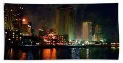 New Orleans Waterfront Hand Towel