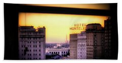 New Orleans Window Sunrise Bath Towel by Jim Albritton