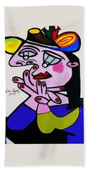 Picasso  Bug Eye Bath Towel