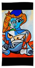 New  Picasso By Nora  Nude Woman With Turkish Bonnet Bath Towel