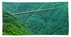 New River Gorge Bridge Hand Towel by Mark Allen