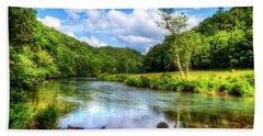 New River Summer Bath Towel by Dale R Carlson