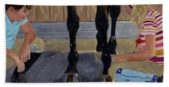 New Shoe Review Horse And Children Painting Hand Towel