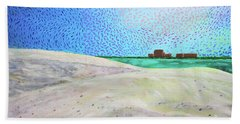 New Smyrna Beach As Seen From A Dune On Ponce Inlet Hand Towel