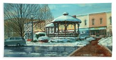 Triangle Park In Winter Hand Towel