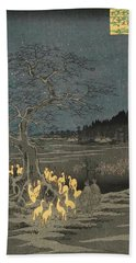 New Year's Eve Foxfires At The Changing Tree, Oji Hand Towel