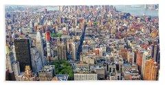 New York Aerial View Bath Towel