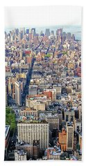 New York Aerial View Bath Towel