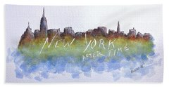 New York After Time Hand Towel by Edwin Alverio