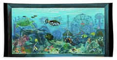 New York Aquarium Bath Towel
