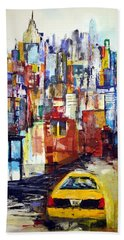 New York Cab Hand Towel