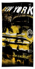 New York Cab Bath Towel