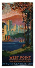New York Central Lines - West Point - Retro Travel Poster - Vintage Poster Hand Towel