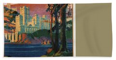 New York Central Lines - West Point - Retro Travel Poster - Vintage Poster Bath Towel