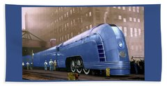 Bath Towel featuring the photograph New York Central by Steven Agius