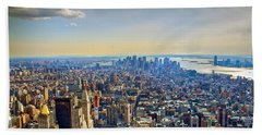 New York City - Manhattan Bath Towel by Mark Dodd