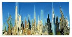 New York City Skyline 2100 - Modern Artwork Hand Towel