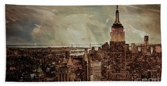 New York City Buildings  Hand Towel