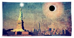 New York City Solar Eclipse 2017  Hand Towel