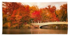 New York City In Autumn - Central Park Hand Towel