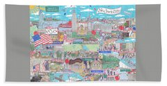 New York City On A Sunny Day Hand Towel