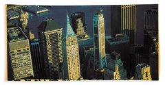 New York City - Pop Art Poster Bath Towel