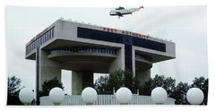 New York City Port Authority Helicopter Pad, New York World's Fa Bath Towel by Photovault