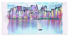 New York City Scape Bath Towel