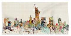 New York City Skyline Bath Towel