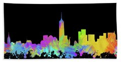 New York City Skyline Silhouette Vi Bath Towel