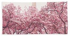 New York City - Springtime Cherry Blossoms Central Park Hand Towel