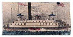 New York Ferry Boat Bath Towel