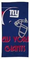 New York Giants Team Vintage Art Bath Towel