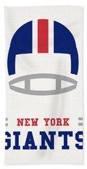 New York Giants Vintage Nfl Art Bath Towel