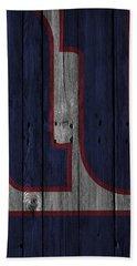 New York Giants Wood Fence Bath Towel