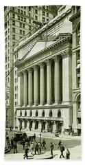 New York Stock Exchange Under Construction 1903 Hand Towel