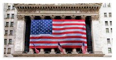 New York Stock Exchange Flag Hand Towel