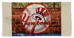 New York Yankees Top Hat Brick 2 Hand Towel