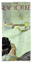 New Yorker December 29 1956painting Bath Towel