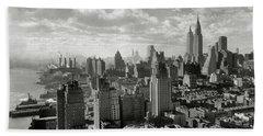 New Your City Skyline Hand Towel