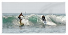 New Zealand Surf Hand Towel by Yurix Sardinelly