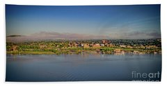 Newburgh, Ny From The Hudson River Bath Towel