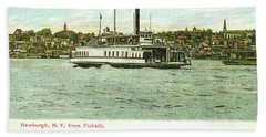 Newburgh Steamers Ferrys And River - 24 Bath Towel