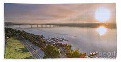 Newburgh Waterfront At Sunrise 3 Hand Towel
