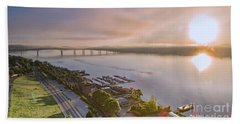 Newburgh Waterfront At Sunrise 3 Bath Towel