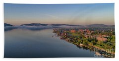 Newburgh Waterfront At Sunrise Bath Towel