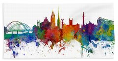 Newcastle England Skyline Custom Panoramic Hand Towel