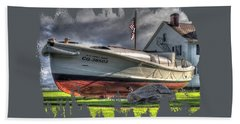 Newport Coast Guard Station Hand Towel by Thom Zehrfeld